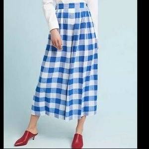 NEW Mara Hoffman Angie Pants Size 0 Blue Gingham